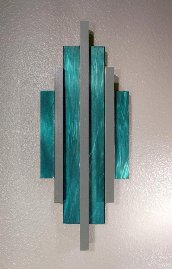 Wall Art Design Ideas : Teal Metal Wall Art – Stunning Teal Metal Throughout Teal Metal Wall Art (Image 19 of 20)