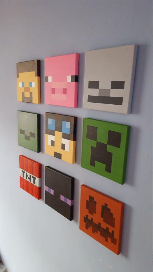 Wall Art Design Ideas: Unique Minecraft Wall Art Uk 48 For Wall In Minecraft Wall Art Uk (Image 13 of 20)