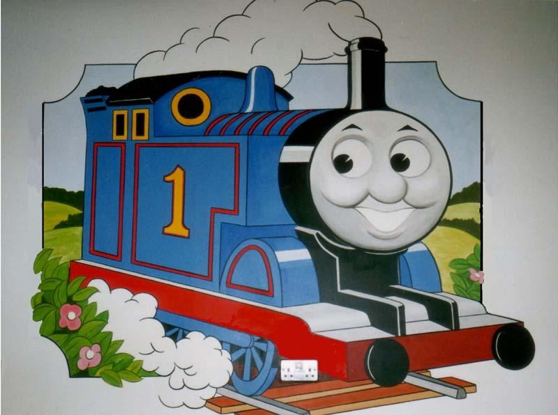 Wall Art Design Ideas: Wallpaper Thomas The Train Wall Art Simple Throughout Thomas The Tank Wall Art (Photo 1 of 20)