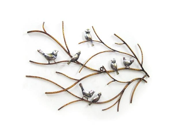 Wall Art Design Ideas: White Background Bird Metal Wall Art Throughout Metal Wall Art Birds In Flight (Image 14 of 20)