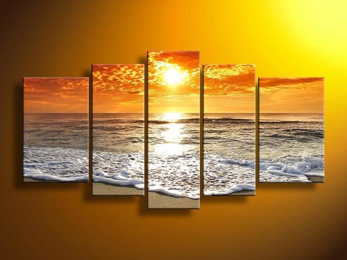 Wall Art Designs: 5 Piece Wall Art Wall Art Decor Sunset Time 5 Inside Five Piece Wall Art (Image 16 of 20)