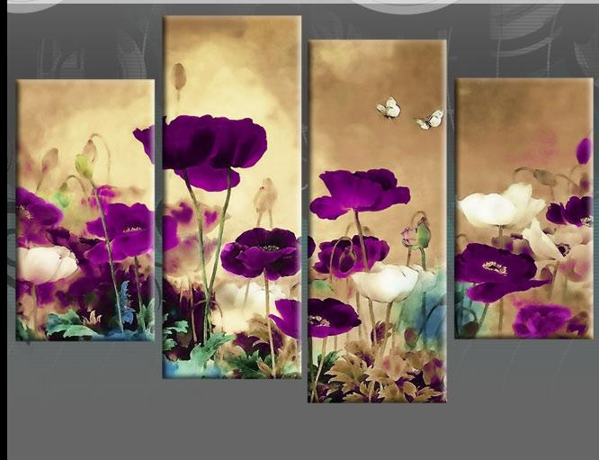 Wall Art Designs: Antique 10 Plum Coloured Wall Art Design Multi Regarding Wall Art Teal Colour (Image 19 of 20)