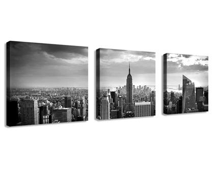 Wall Art Designs: Awesome Example Of Nyc Canvas Wall Art Bridge Throughout New York Skyline Canvas Black And White Wall Art (Image 15 of 20)