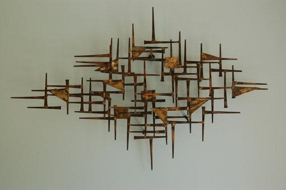 Wall Art Designs: Awesome Mid Century Modern Metal Wall Art Design Inside Rectangular Metal Wall Art (Image 18 of 20)