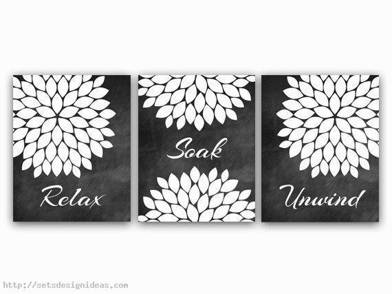 Wall Art Designs: Bathroom Wall Art And Decor Black And White With Regard To Black And White Bathroom Wall Art (View 4 of 20)