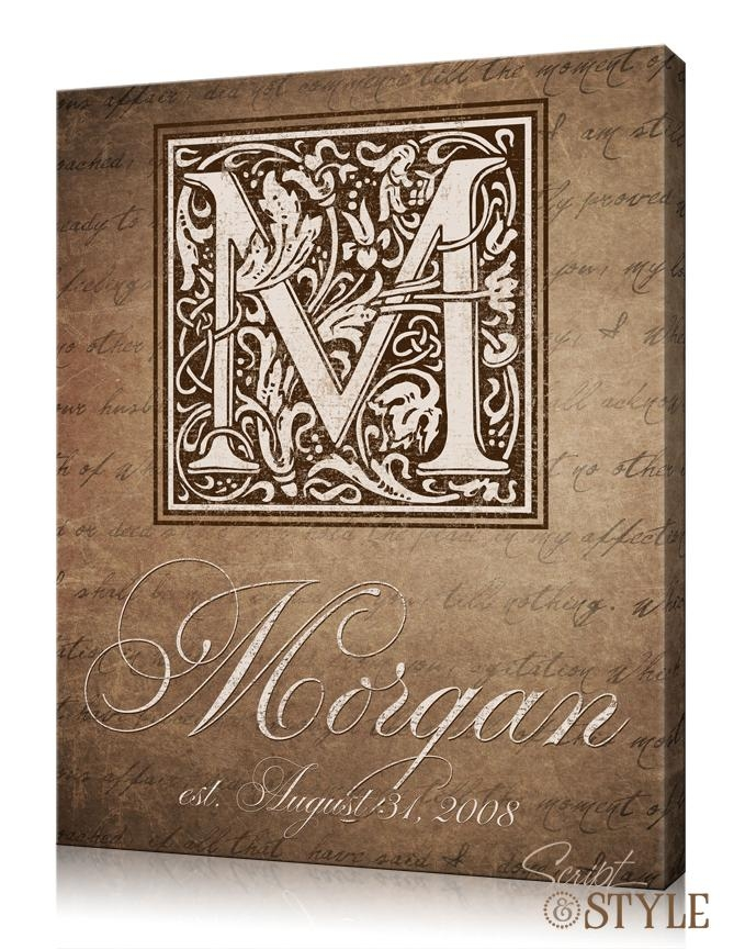 Wall Art Designs: Best Collection Personalized Wall Art With Names Throughout Custom Last Name Wall Art (Image 17 of 20)
