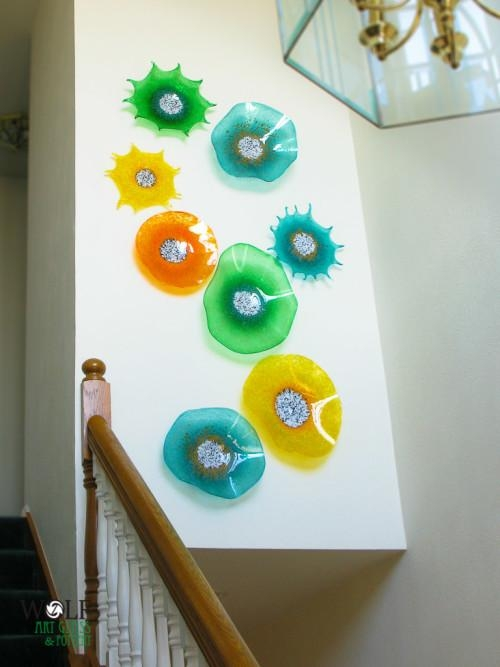 Wall Art Designs: Blown Glass Wall Art Residential Blown Glass In Viz Glass Wall Art (Image 15 of 20)