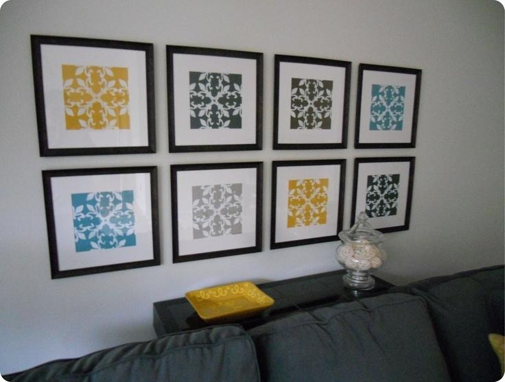 Wall Art Designs: Cheap Framed Wall Art Gallery Wall Made From Throughout Affordable Framed Wall Art (Image 14 of 20)
