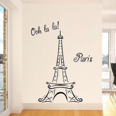 Wall Art Designs: Eiffel Tower Wall Art Decor La La Ooh La Paris Regarding Eiffel Tower Wall Art (Image 18 of 20)