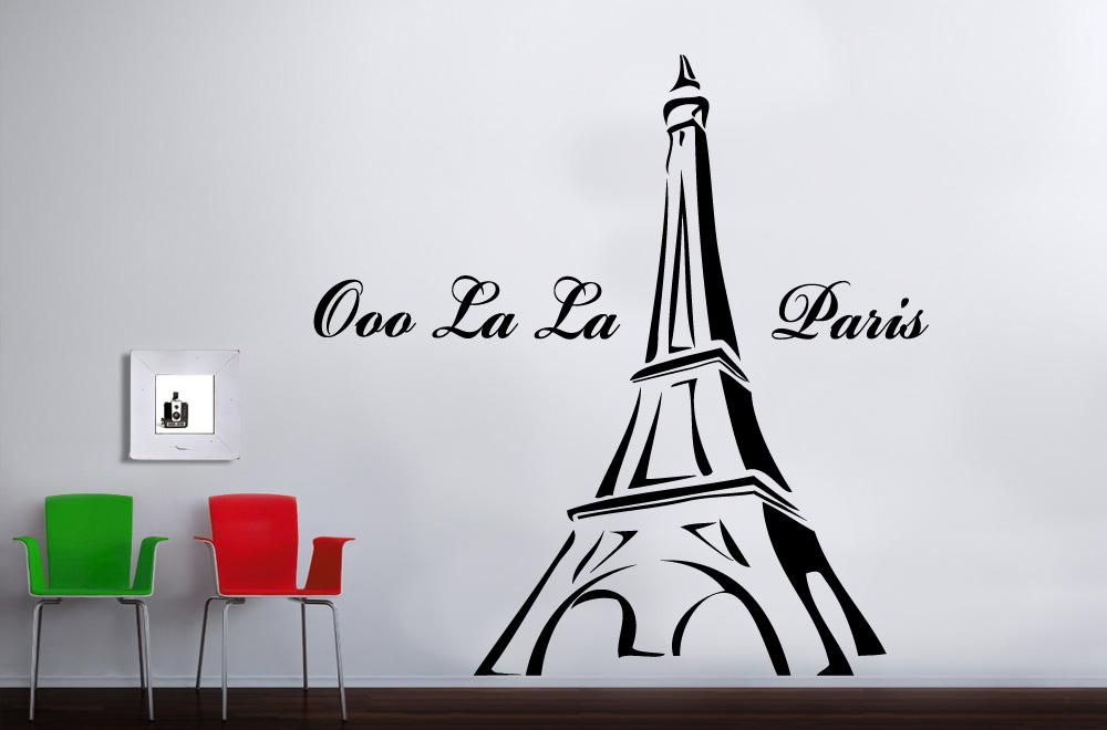 Wall Art Designs: Eiffel Tower Wall Art La Paris Stickers Luxury Intended For Parisian Wall Art (Image 12 of 20)