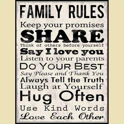Wall Art Designs: Family Wall Art Rules Inspiration Canvas Wall With Family Rules Canvas Wall Art (View 15 of 20)