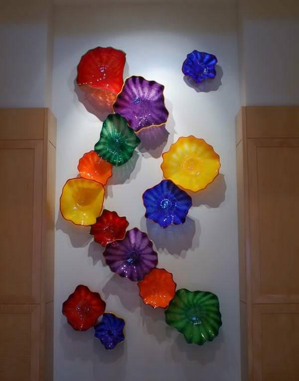 Wall Art Designs : Glass Wall Sculptures Glass Flower Blown Glass Regarding Glass Wall Art For Sale (View 6 of 20)