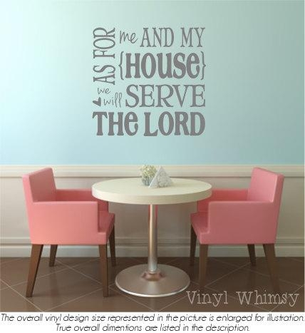Wall Art Designs: Good Look As For Me And My House Wall Art With As For Me And My House Vinyl Wall Art (Image 20 of 20)