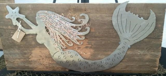 Wall Art Designs: Mermaid Wall Art Large Mermaid Wall Art Wooden For Wooden Mermaid Wall Art (Image 13 of 20)