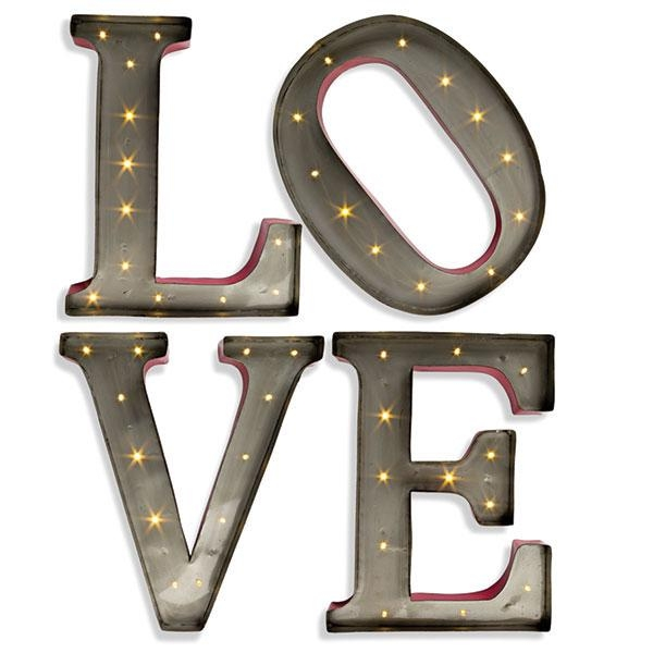 Wall Art Designs: Metal Letter Wall Art Led Wall Art 15 Inch Throughout Decorative Metal Letters Wall Art (Image 6 of 20)