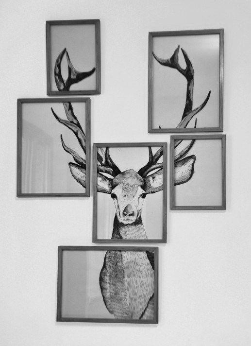 Wall Art Designs: Multi Frame Wall Art Phenomenal Decor Deer Throughout Wall Art Frames (Image 15 of 20)