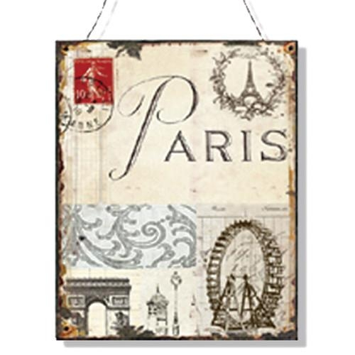 Wall Art Designs: Paris Wall Art Tin Plaque Paris Wall Art Paris Within Parisian Wall Art (Image 14 of 20)