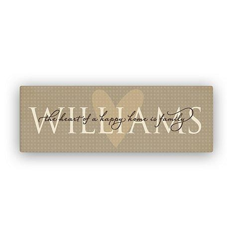 Wall Art Designs: Personalized Canvas Wall Art Custom Plaques And With Regard To Custom Last Name Wall Art (Image 18 of 20)