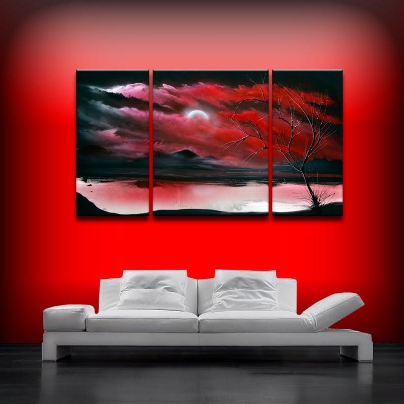 Wall Art Designs: Red Canvas Wall Art Primary Red Acrylic On Throughout Red And Black Canvas Wall Art (View 20 of 20)