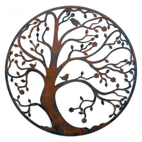 Wall Art Designs: Round Metal Wall Art Round Metal Tree Wall Art Pertaining To Large Round Metal Wall Art (Image 17 of 20)