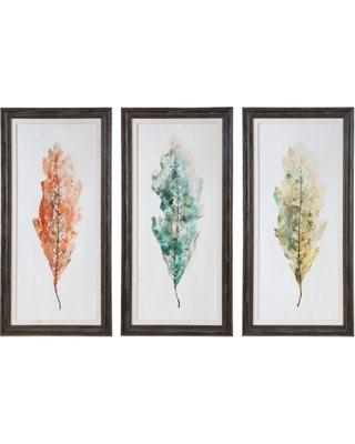 Wall Art Designs: Set Of 3 Wall Art Uttermost Tricolor Leaves In Wall Art Sets Of (View 4 of 20)