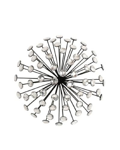 Wall Art Designs: Starburst Metal Wall Art Three Hands Jeweled Inside Silver Starburst Wall Art (View 2 of 20)