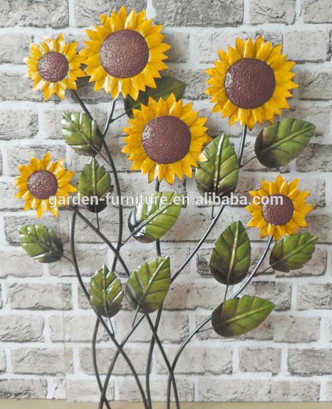 Wall Art Designs: Sunflower Wall Art Home Decor Wall Decor Wall Regarding Metal Sunflower Wall Art (View 4 of 20)