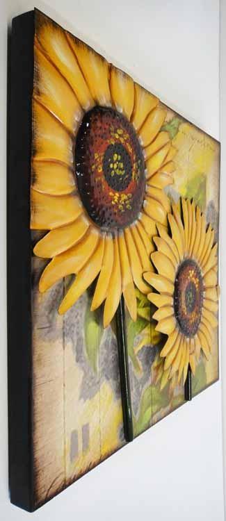 Wall Art Designs: Sunflower Wall Art Sunflower Wall Art 3D Metal With Metal Sunflower Wall Art (View 18 of 20)
