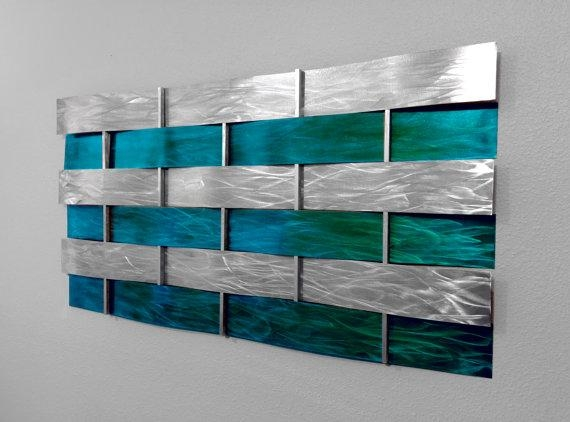 Wall Art Designs: Teal Wall Art Teal Wall Decor Wall Decorations Pertaining To Teal Metal Wall Art (Image 20 of 20)