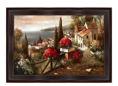 Wall Art Designs: Tuscan Wall Art Tuscan Flowers Canvas Wall Art Throughout Tuscan Italian Canvas Wall Art (Image 14 of 20)