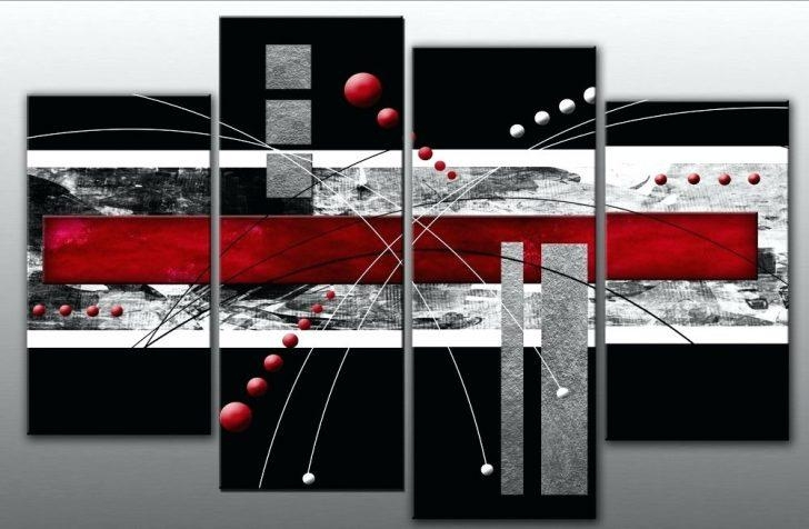 Wall Art ~ Details About Large Red Black Grey Abstract Canvas With Split Wall Art (Image 14 of 20)