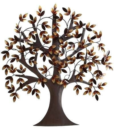 Wall Art ~ Family Tree Wall Art Metal Weeping Willow Tree Metal Pertaining To Oak Tree Large Metal Wall Art (Image 14 of 20)