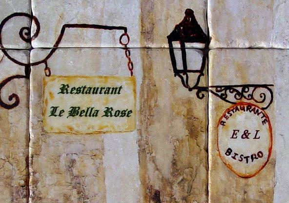 Wall Art For Restaurants And Hotels – Original Artwork And Tiles In Italian Cafe Wall Art (Image 19 of 20)