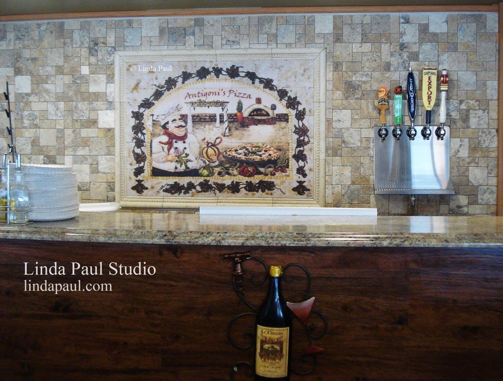 Wall Art For Restaurants And Hotels – Original Artwork And Tiles Throughout Italian Art Wall Murals (Photo 5 of 20)