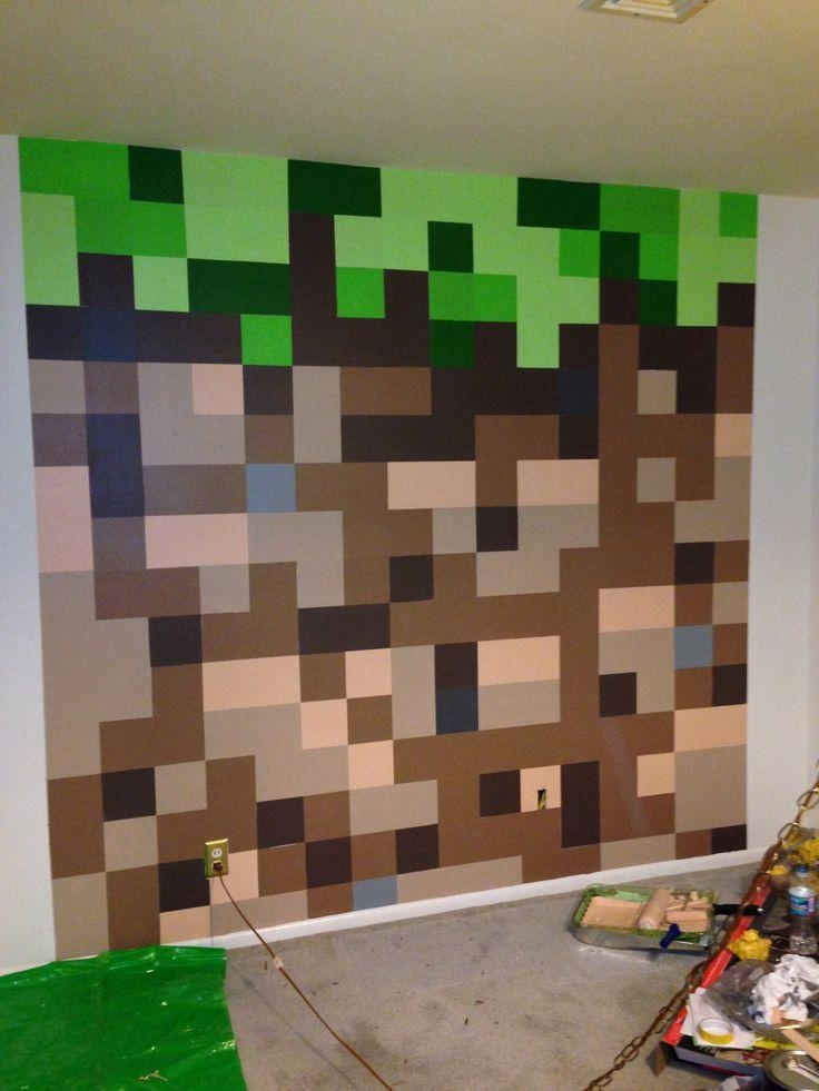 Wall Art Ideas : Artwork Decal Cling Vinyl Stencil Inspired Themed For Minecraft Wall Art Uk (View 18 of 20)
