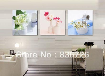 Wall Art Ideas For Dining Room Mirror Frame On The Wall Elegant Pertaining To Canvas Wall Art For Dining Room (Image 19 of 20)