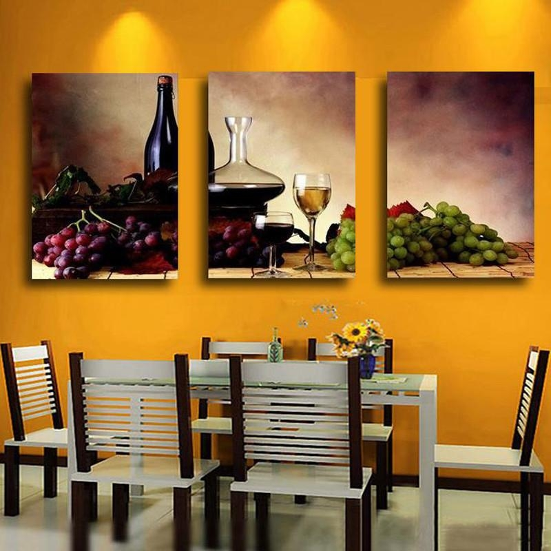 Wall Art: Inspiring Kitchen Art Decor Kitchen Wall Decorations Inside Wine And Grape Wall Art (View 10 of 20)
