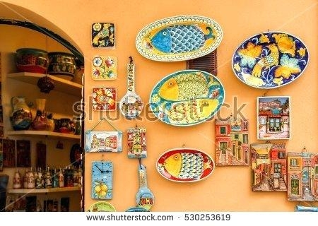 Wall Art ~ Italian Ceramic Wall Art Italian Ceramic Outdoor Wall Intended For Italian Ceramic Outdoor Wall Art (Image 8 of 20)