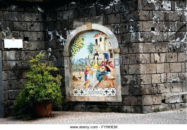 Wall Art ~ Italian Ceramic Wall Art Italian Ceramic Outdoor Wall Intended For Italian Outdoor Wall Art (Image 7 of 20)
