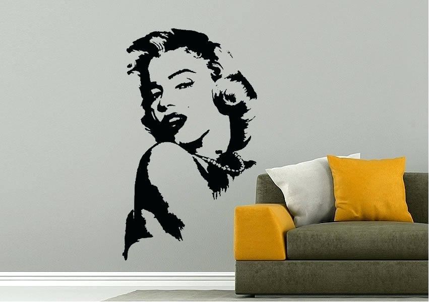 Wall Art ~ Marilyn Monroe Wall Art Marilyn Monroe Quotes Vinyl With Regard To Glamorous Audrey Hepburn Wall Art (Image 20 of 20)