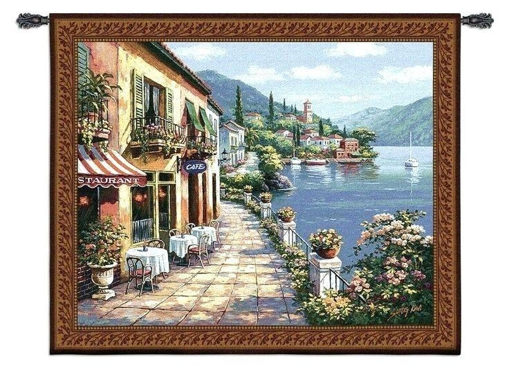 Wall Art ~ Mediterranean Outdoor Wall Art Mediterranean Canvas Regarding Italian Garden Wall Art (Image 19 of 20)