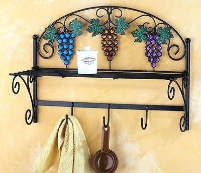 Wall Art ~ Metal Wall Art Wine Grapes Metal Wall Art Wine Glasses Intended For Grape Vineyard Wall Art (Image 18 of 20)