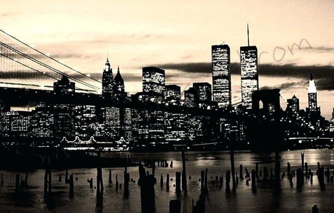 Wall Art ~ New York City Wall Art Sticker New York City Canvas For Black And White New York Canvas Wall Art (Image 15 of 20)