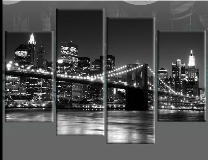 Wall Art New York Surprise Tempered Glass Art City Skyline 2 Intended For Black And White New York Canvas Wall Art (Image 18 of 20)