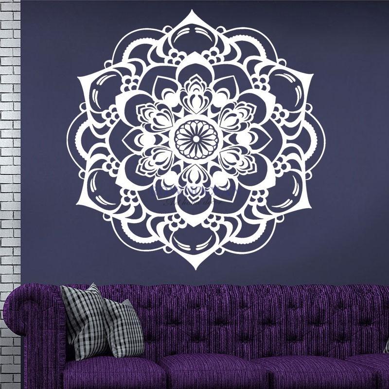 Рисуем мандалы на стене своими руками 55