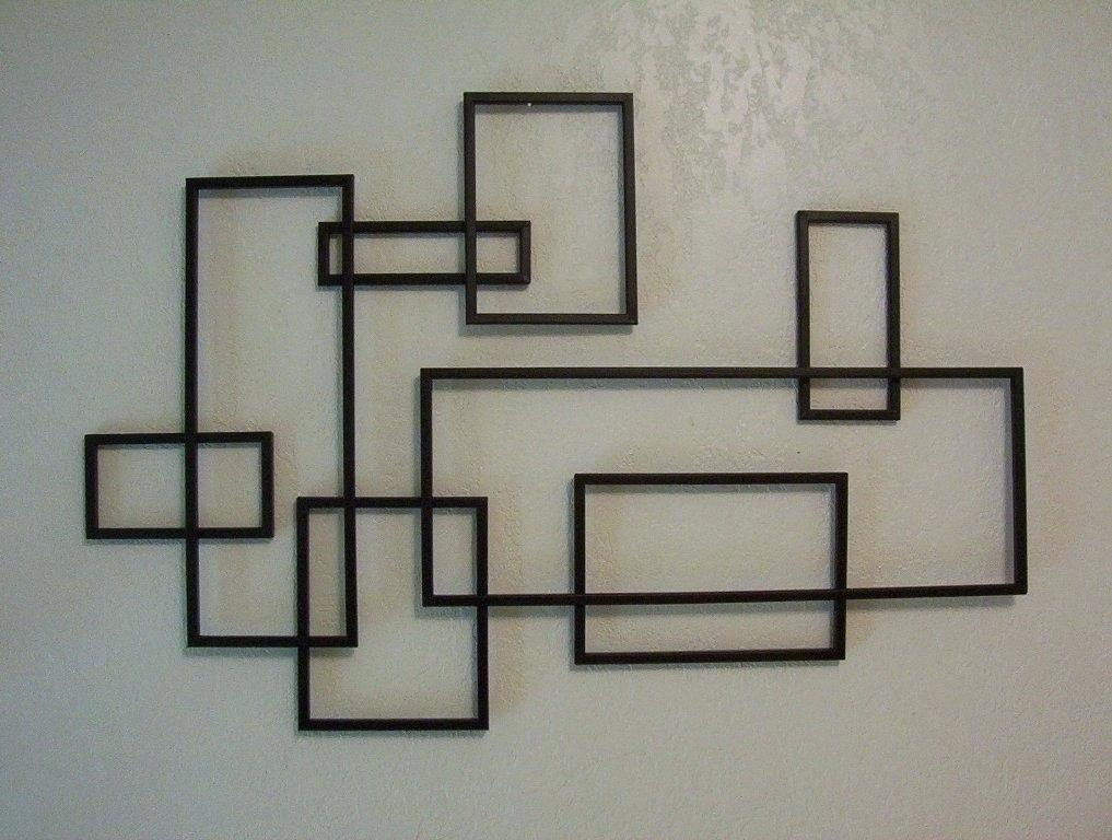 Wall Art ~ Rectangular Mirrored Wall Art Rectangular Metal Wall Intended For Rectangular Metal Wall Art (Image 16 of 20)
