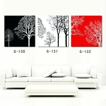 Wall Art ~ Red Art Red Tree Abstract Oil Painting On Canvas Throughout Cheap Italian Wall Art (Image 18 of 20)