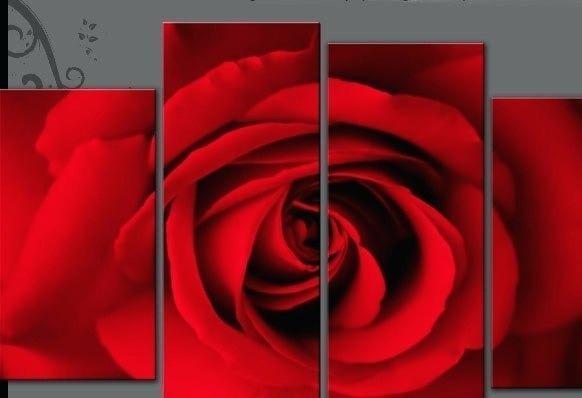Wall Art ~ Rose Gold Canvas Wall Art Single Face On Rose On 4 Regarding Rose Canvas Wall Art (View 20 of 20)