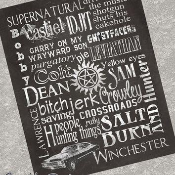 Wall Art – Supernatural From Sparkle From Sparkledesigns On Inside Supernatural Wall Art (Image 16 of 20)