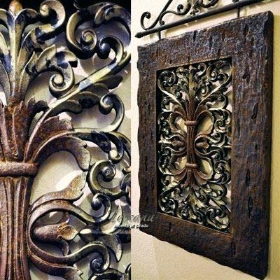 Wall Art ~ Tuscan Style Wall Art Tuscan Style Outdoor Wall Art Old Regarding Italian Style Metal Wall Art (Image 13 of 20)